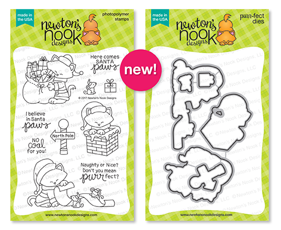 Holiday Reveals - Day 4 - Santa Paws Newton Stamp set and coordinating die set by Newton's Nook Designs #newtonsnook