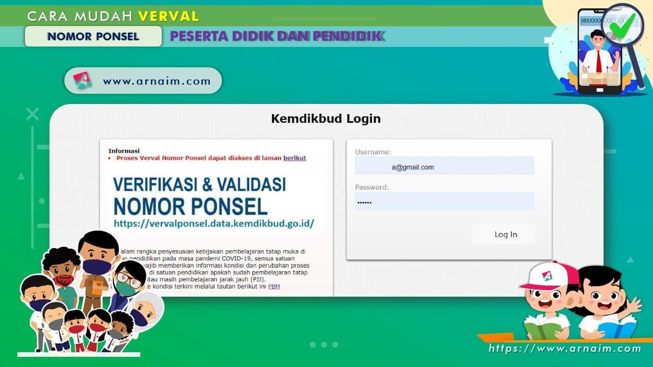 ARNAIM.COM - CARA MUDAH VERVAL NOMOR PONSEL PESERTA DIDIK DAN PENDIDIK (6)