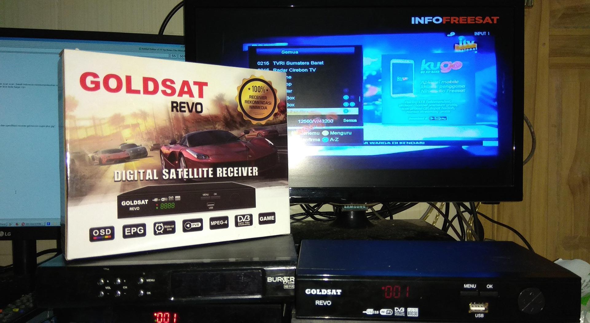Harga Spesifikasi Goldsat Revo Receiver Khusus Ninmedia