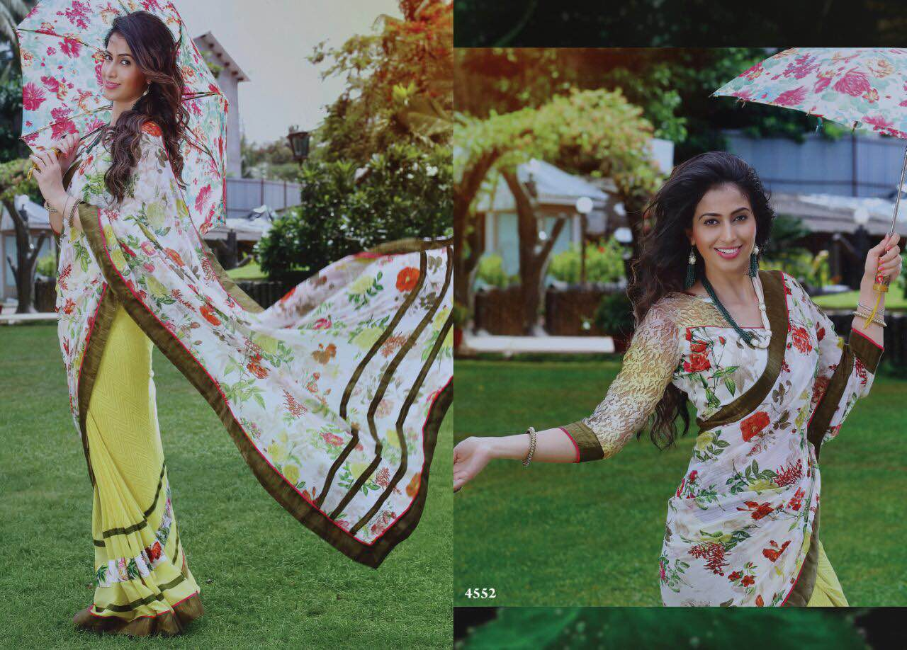 Magadheeram – New Collection Georgette Casual Wear Printed Saree