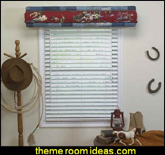 DIY Styrofoam No Sewing Cornice Kit  cowboys