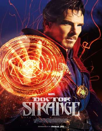 Poster Of Doctor Strange 2016 Dual Audio 750MB HDCAM [Hindi - English] Free Download Watch Online world4ufree.org