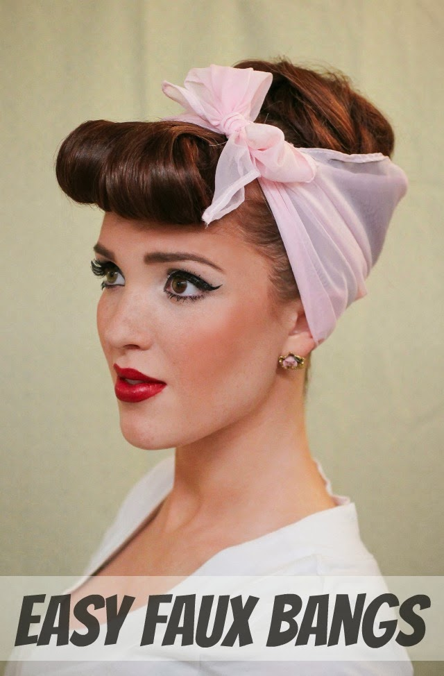 Astounding The Freckled Fox Modern Pin Up Week 4 Easy Faux Bangs Short Hairstyles Gunalazisus