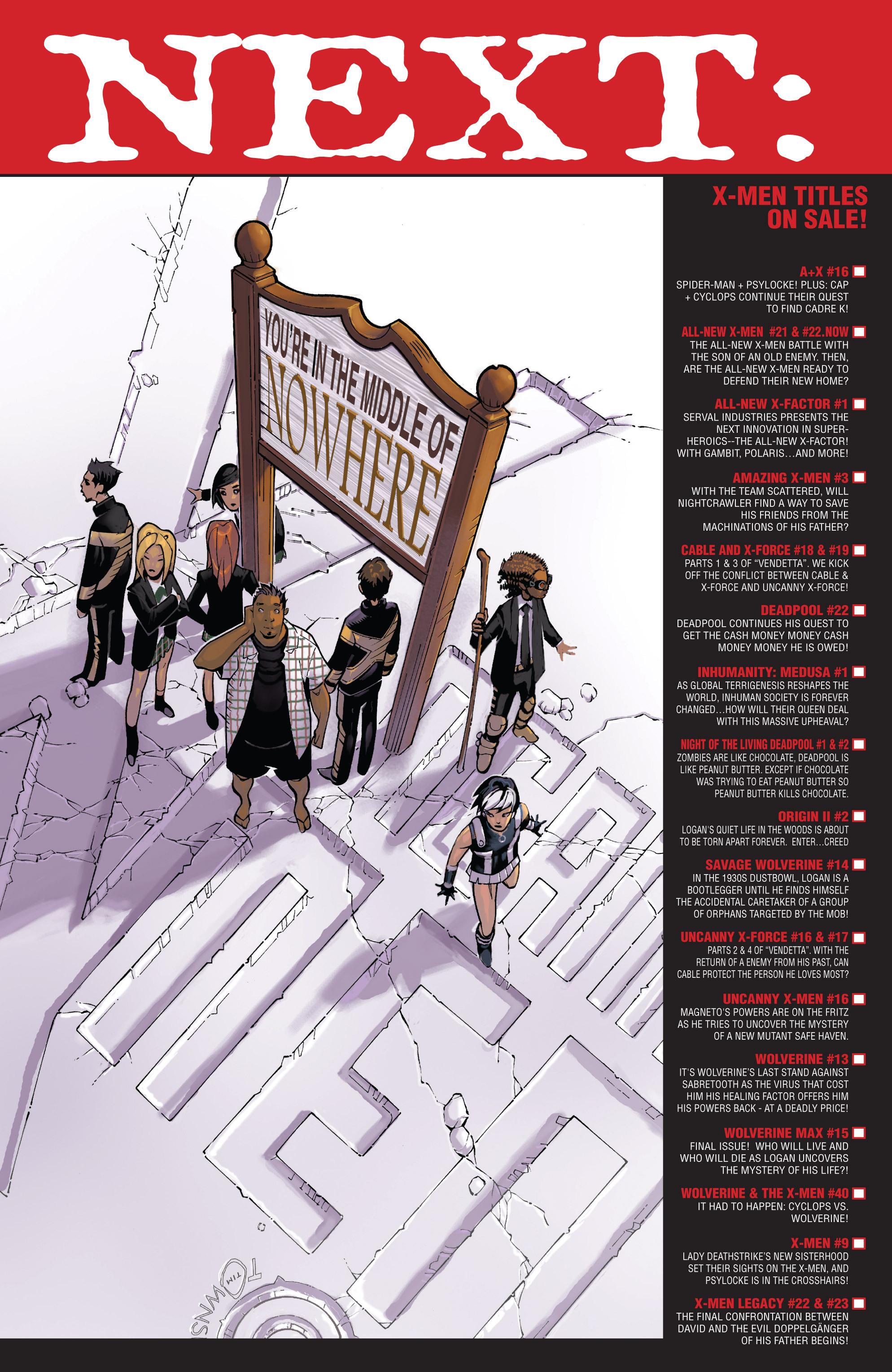 Read online Uncanny X-Men (2013) comic -  Issue #16 - 22
