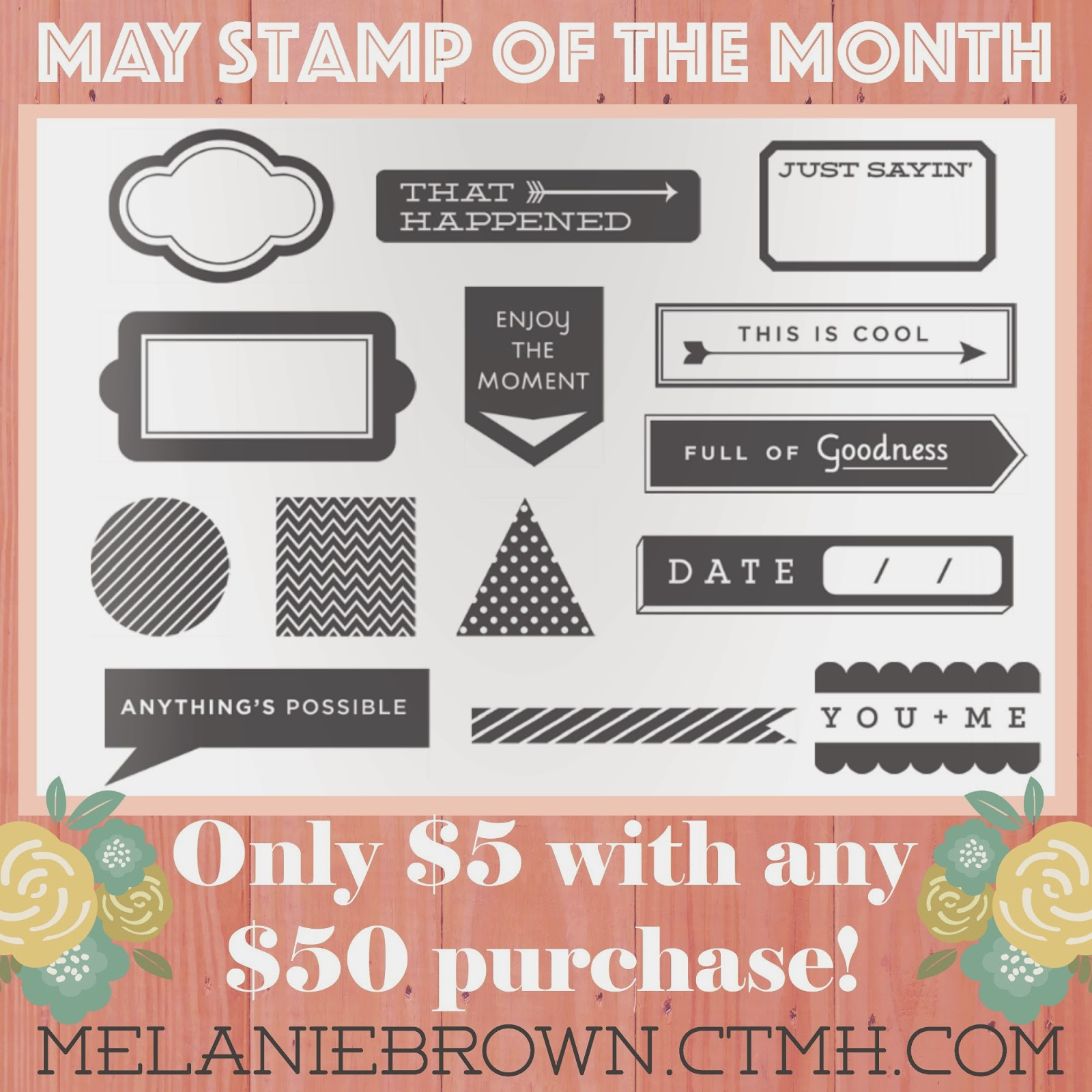 may stamp of the month