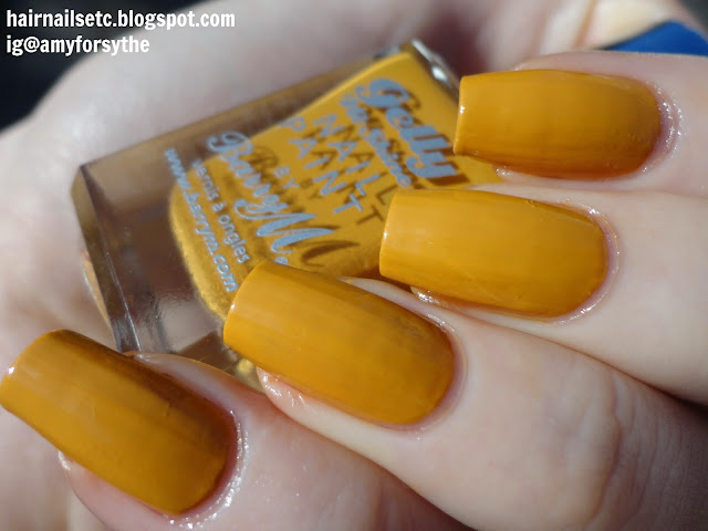 Barry M Gelly Nail Paint for Autumn Winter 2014 in Mustard - swatches and review