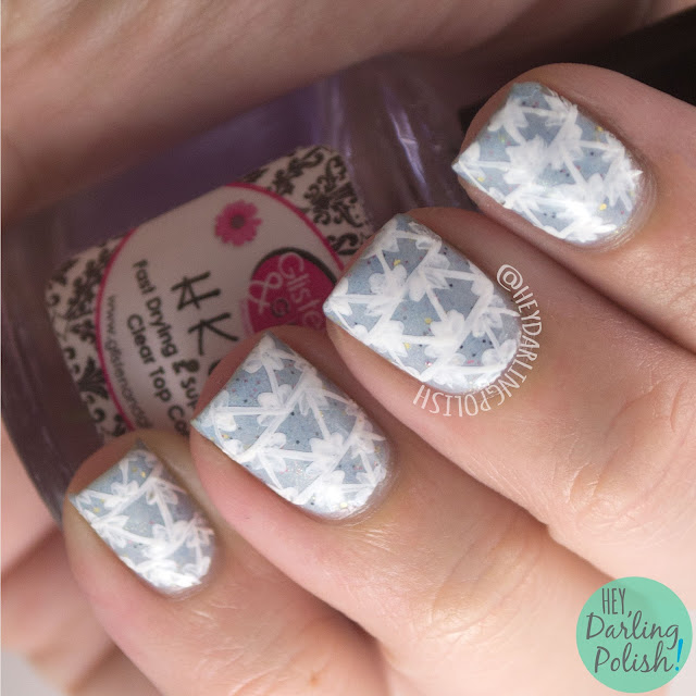 nails, nail art, nail polish, geometric, hey darling polish, naillinkup, nail art ideas linkup, triangles, renaissance cosmetics, l'hiver