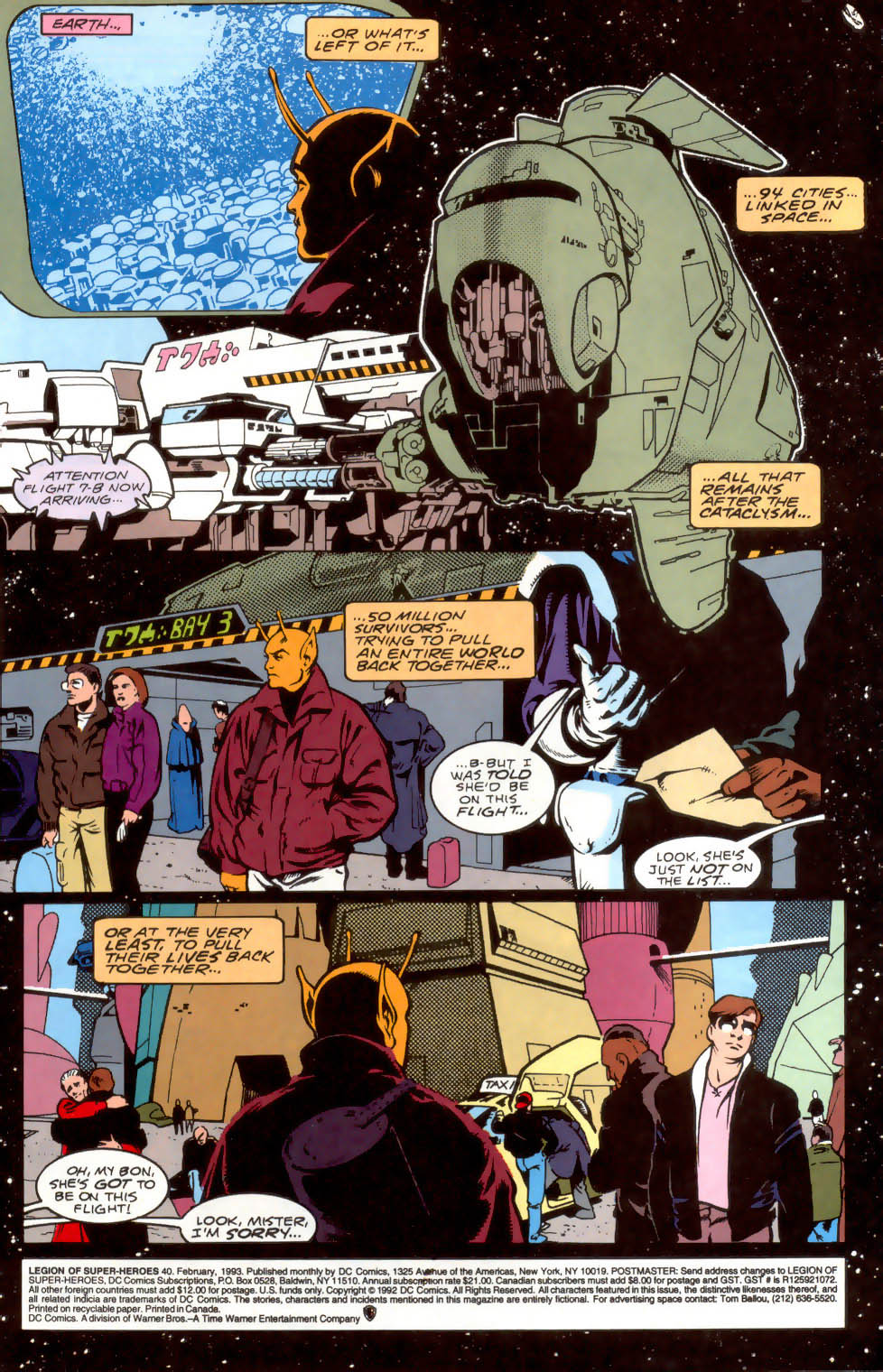 Legion of Super-Heroes (1989) 40 Page 1