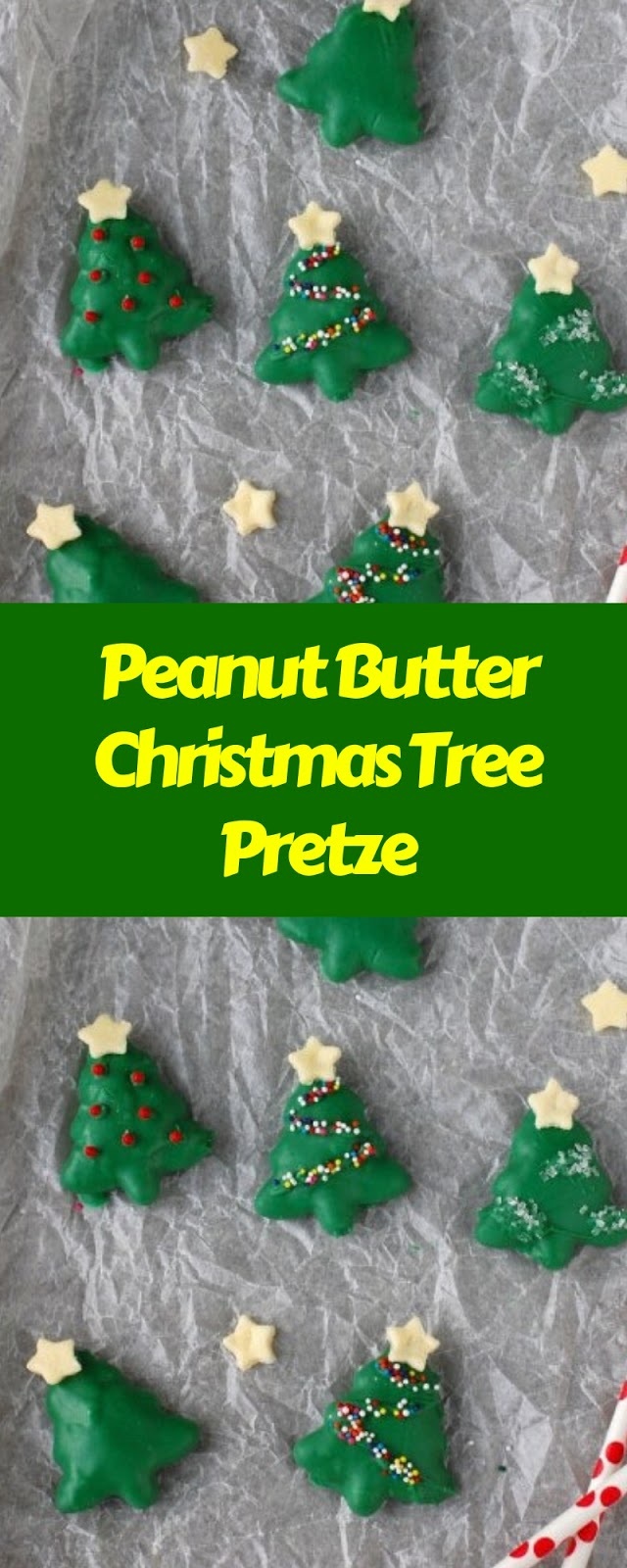Peanut Butter Christmas Tree Pretze