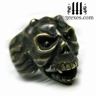 dark gargoyle ring unique mens wedding ring