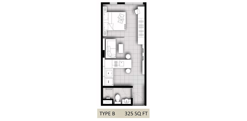 Hanson Court Suites Type B Floorplan
