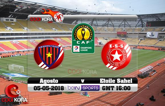 مشاهدة مباراة بريميرو دي أوجوستو والنجم الساحلي اليوم 5-5-2018 دوري أبطال أفريقيا