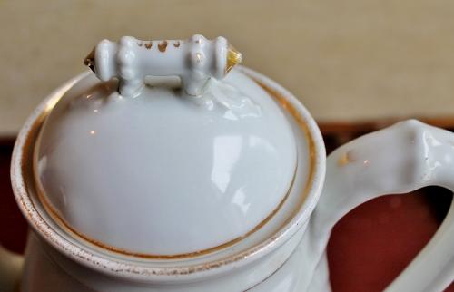 vintage ironstone coffee pot lid