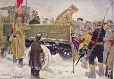 Рисунок. И.А. Владимиров. Арест царских генералов в феврале 1917 года.