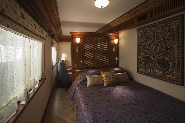 Suite of the Maharajas Express comes with a spacious living area
