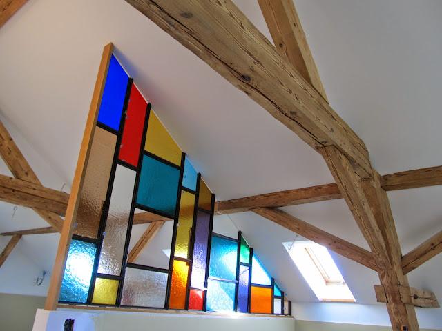 dělící stěna ze skla