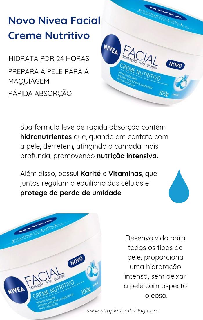 Novo Nivea Facial Creme Nutritivo (sensação não oleosa) - Resenha