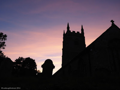 Lansallos Church at Sunset Cornwall
