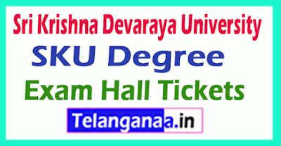 SKU Degree Regular Supply Exam Hall Tickets