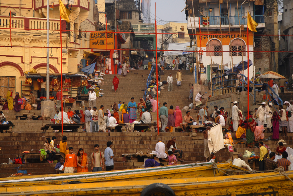 Dasaswamedh Ghat in Varanasi, India is among the many photos by the photographer showcased on a blog.