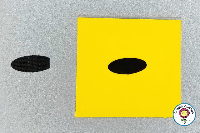Velcro Dots on Grouping Cards