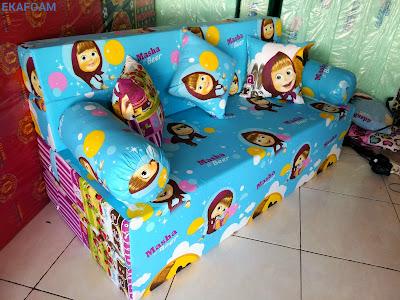 sofa bed inoac motif masha