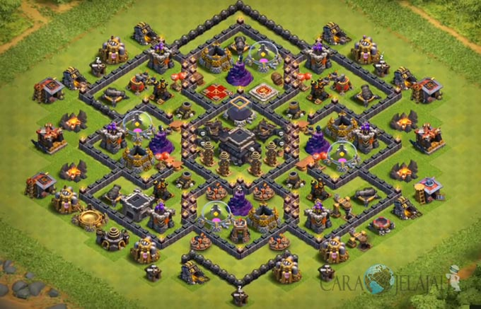 Base Farming TH 9 COC Update Bomb Tower Terbaru 2017 Tipe 26