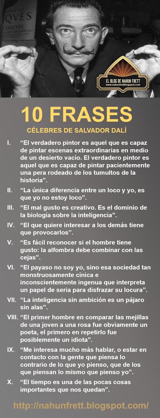 Nahun Frett 10 Frases Célebres De Salvador Dalí