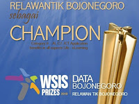 Data Bojonegoro Karya RTIK Bojonegoro Raih Champion WSIS Prize PBB 2019
