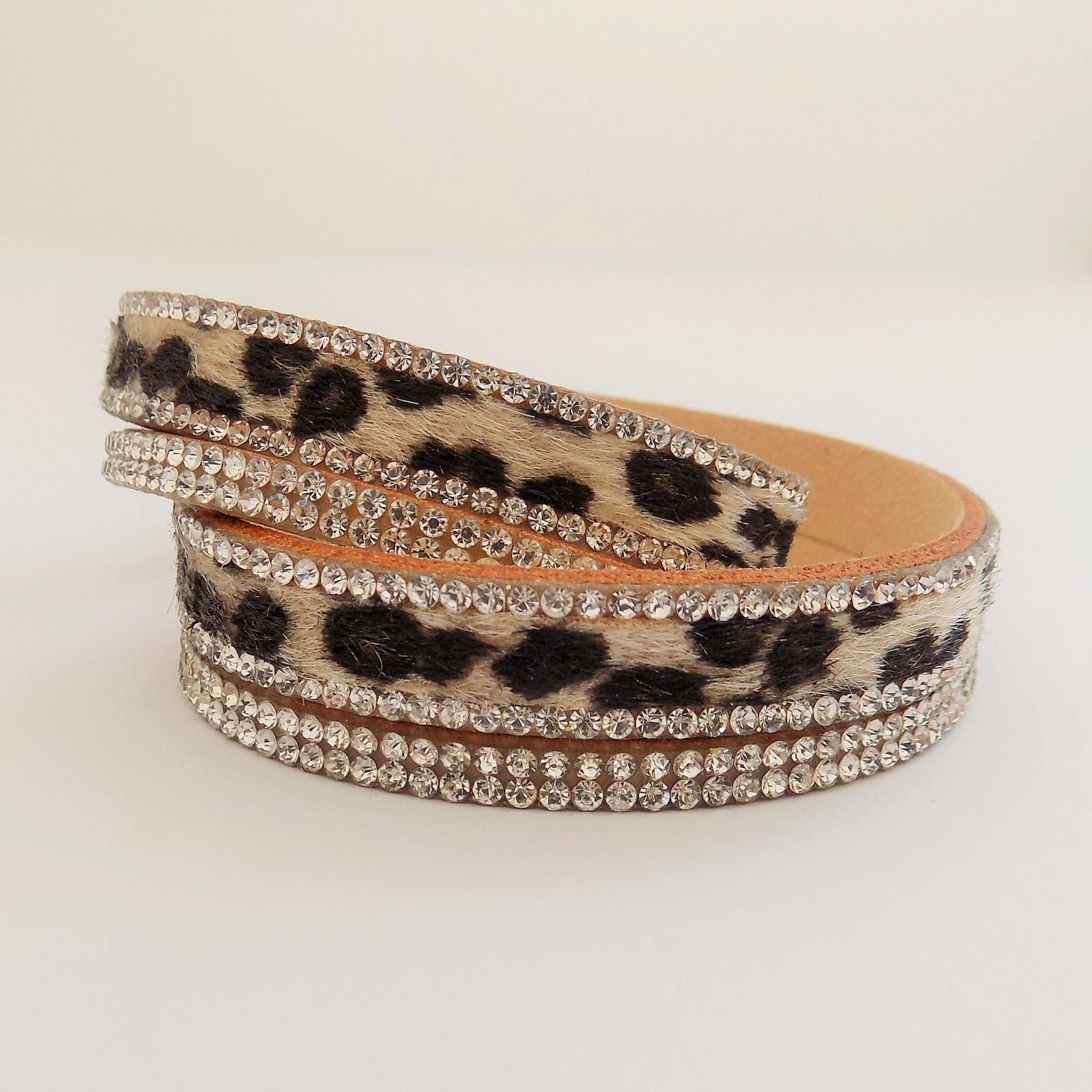 Leopard print double warp bracelet