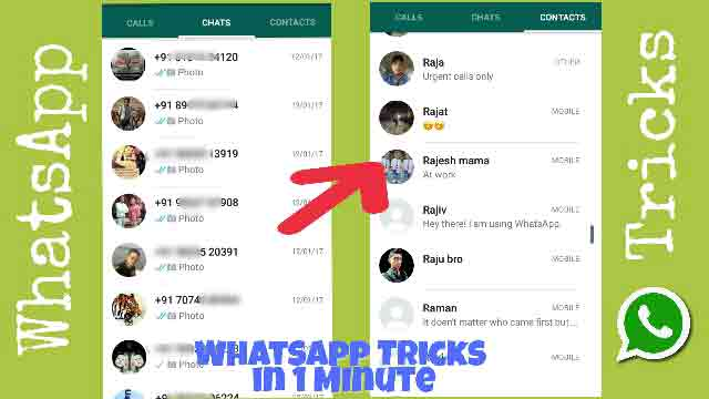 Whatsapps Not showing My Contact Name Latest Whatsapp Tricks