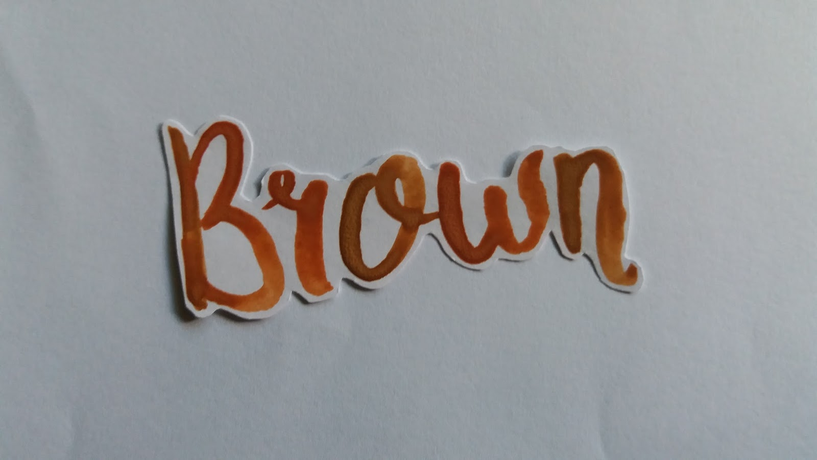Watercolor Lettering Brown Yellow Creatifina