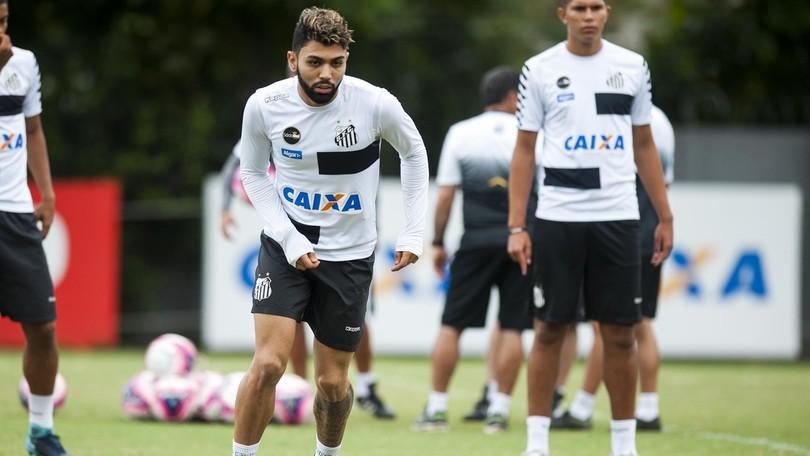Teste para Gabigol  Santos enfrenta Água Santa em jogo-treino nesta terça ca84c2b06d78d
