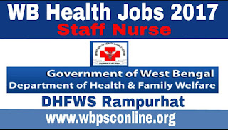 WB Health Jobs 2017 - Apply for Staff Nurse Posts in West Bengal - image WB%2BHealth%2BJobs on http://wbpsconline.org