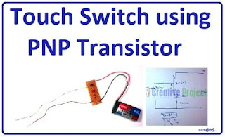 homemade touch switch using bc557