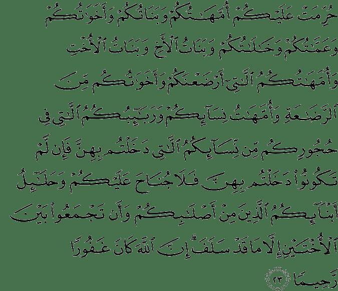 Surat An-Nisa Ayat 23