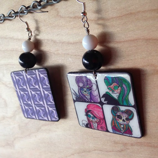 Handmade Jewelry From Original Paintings by Karma Leigh Available on Etsy!