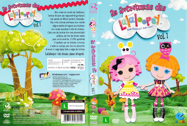 Capa DVD as aventuras das Lalaloopsy Vol. 1