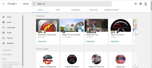Digital Car - Applicazione Android - Google+