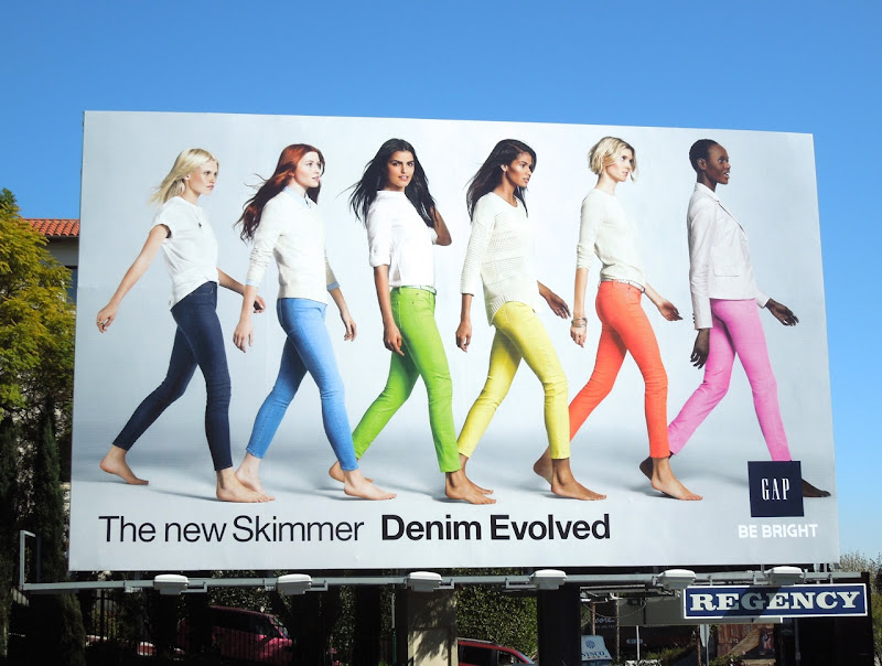 Gap Skimmer Denim Evolved billboard