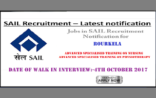 SAIL Rourkela Steel Plant Staff Nurse Vacancy 2017 in Odisha