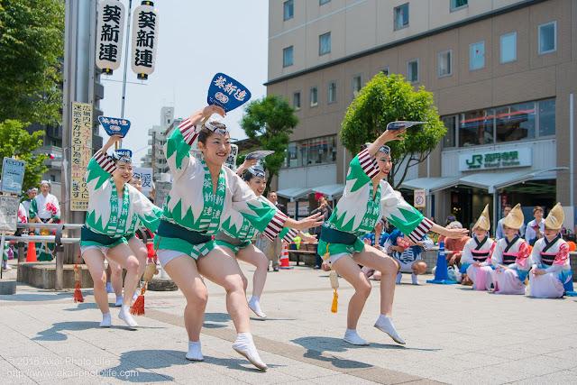 葵新連、白ハッピ(女性による男踊り)の写真 1枚目