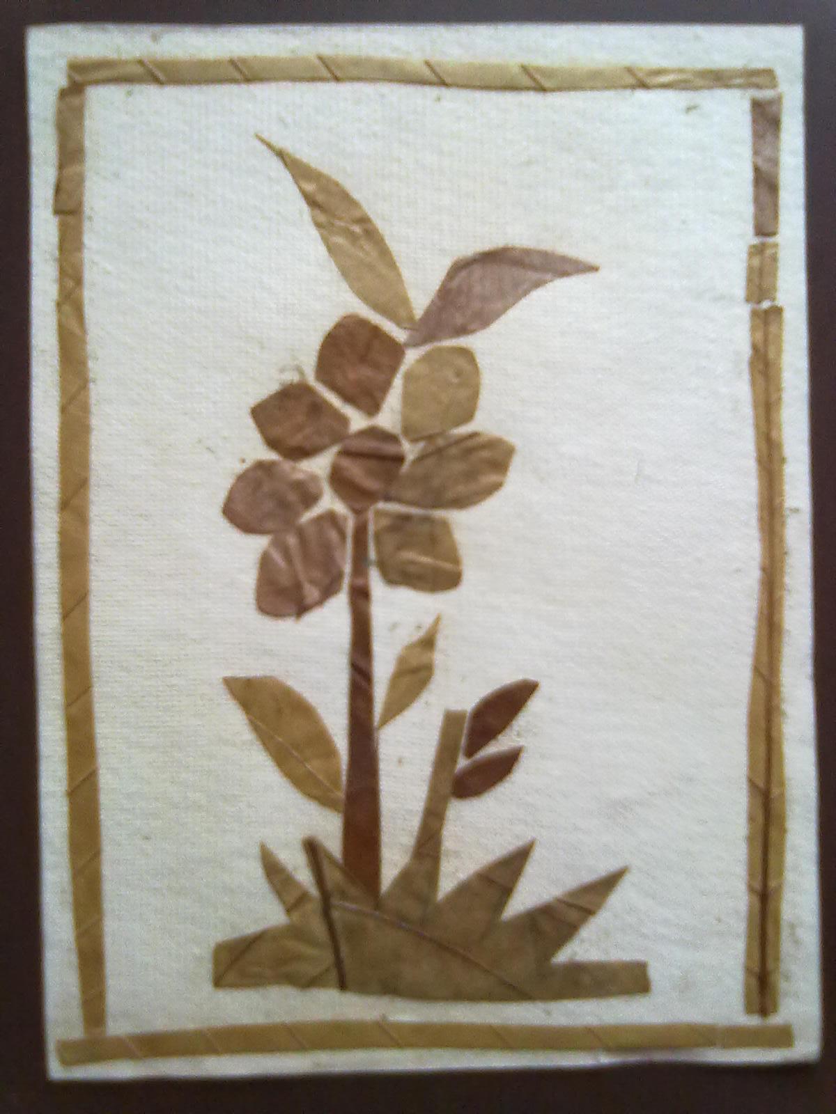 Creative Art And Craft Dry Leaf Art