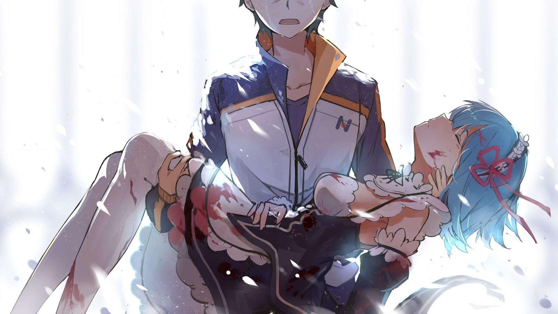 Gambar anime desktop rem
