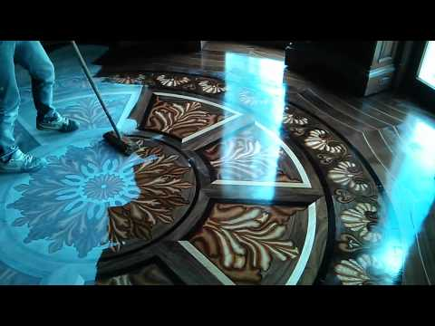 epoxy resin 3D flooring - adding the decorative layer