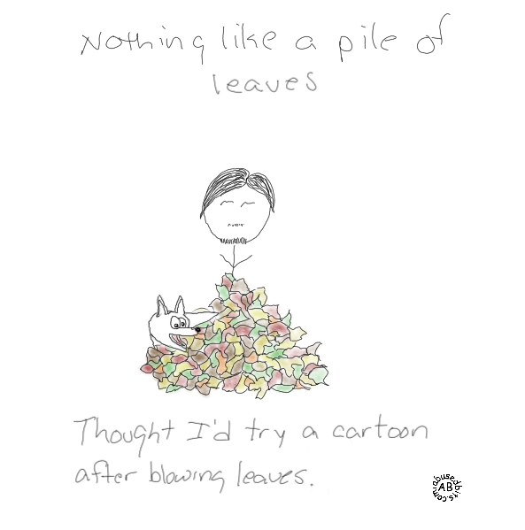 amusedbits, pile of leaves