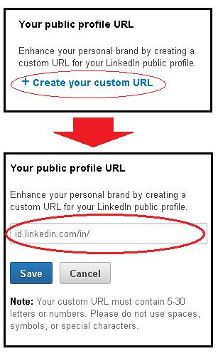 Cara Set URL Profile Linkedin