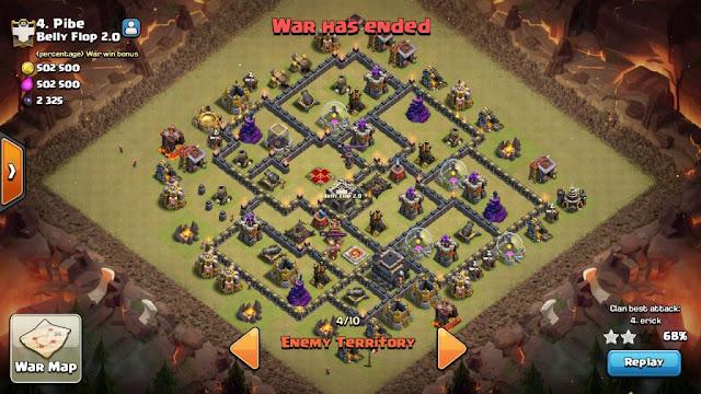 Base WAR TH 9 Game COC Dengan 1 Bomb Tower Level 3 Susah