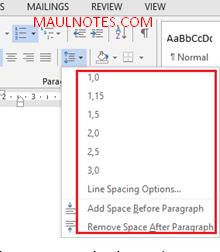 Cara Mengatur Line Spacing/Jarak Spasi Antara Baris - maulnotes.com