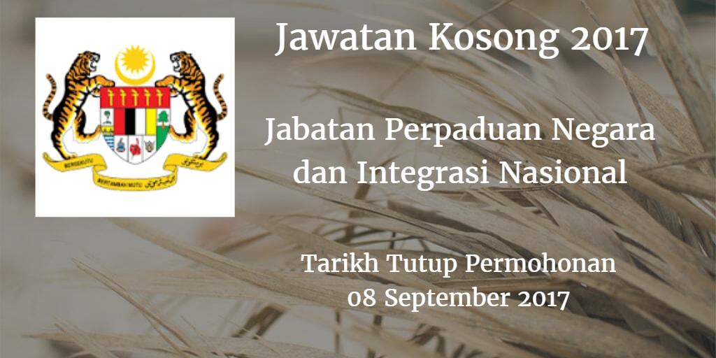 Jawatan Kosong JPNIN 08 September 2017